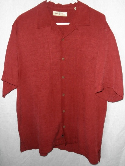 Tommy bahama wine a little burgandy embroidered silk camp for Tommy bahama embroidered silk camp shirt