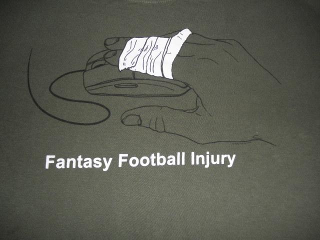 Fantasy Football Injury Heavy Cotton Mens T Shirt XL